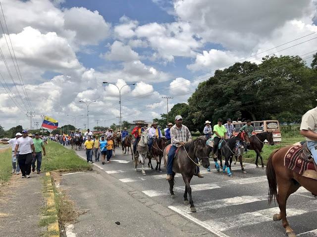 """Venezolanos se movilizaron este sábado """"en rebelión contra la dictadura"""""""