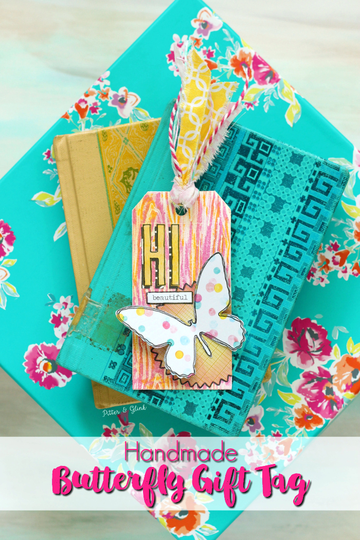 Make It Yourself: A Colorful Handmade Butterfly Gift Tag | pitterandglink.com