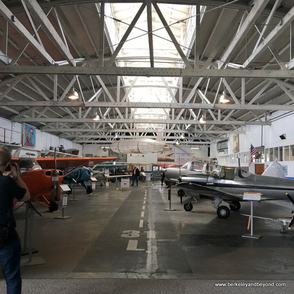 interior of hangar at Oakland Aviation Museum in Oakland, California