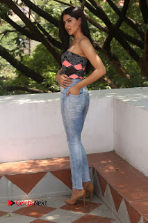 Actress Sakshi Chowdary Pictures in Ripped Jeans at Selfie Raja Interview  0183.JPG