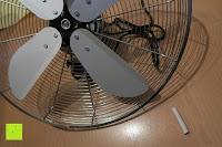 Kopf: Andrew James 40cm Standventilator mit Chromfinish – 60 Watt Motor, Verstellbare Höhe, 3 Geschwindigkeitseinstellungen, verstellbare Neigung und Schwenkfunktion + Hochbeanspruchbar – 2 Jahre Garantie