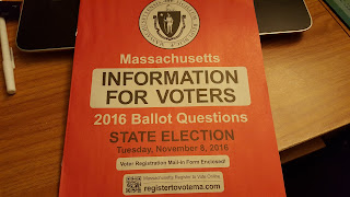 the mailing with information on the Nov 8 election and ballot questions