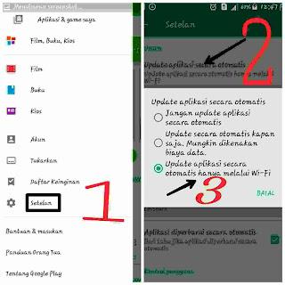 cara menonaktifkan update aplikasi otomatis
