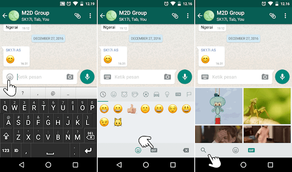 GIF Spongebob animasi WhatsApp