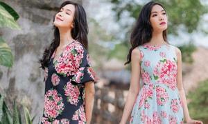 Hoa hậu Thùy Dung gợi ý chọn váy hoa cho nàng công sở - 1