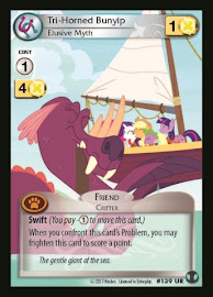 My Little Pony Tri-Horned Bunyip, Elusive Myth Defenders of Equestria CCG Card