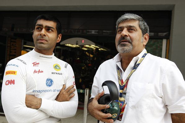 Vicky and Karun Chandhok (Motorsports