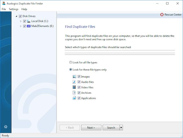 Find Duplicate Files Auslogics Boost Speed 8