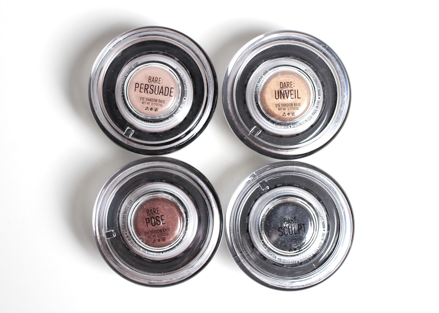 all four shadows together, Persuade, Unveil, Pose and Sculpt