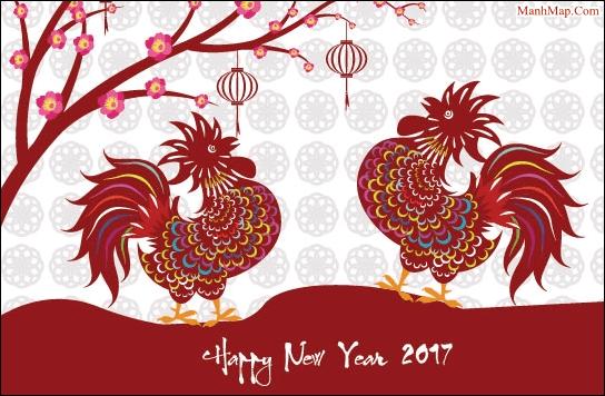 Chùm thơ Xuân Đinh Dậu, chúc mừng năm mới 2017