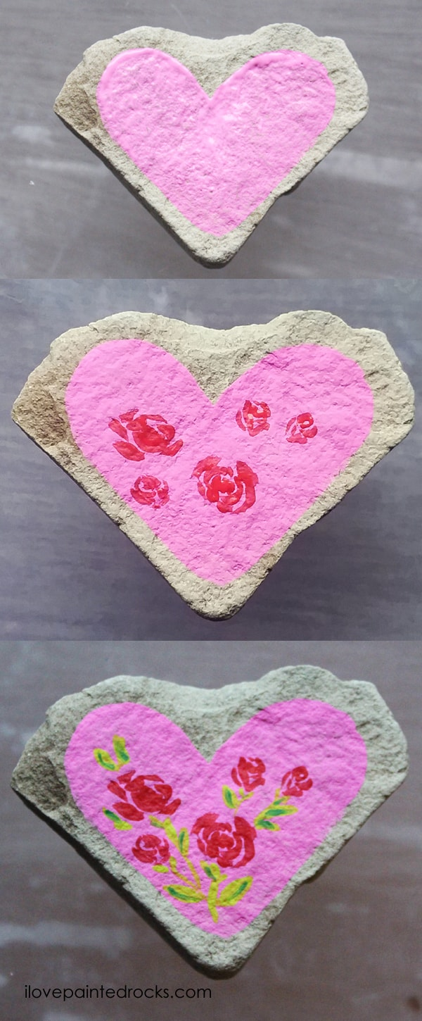 Easy rock painting ideas for Valentine's Day. I love all the painted rock tutorials in this post! Learn how to paint a heart rock with roses. #ilovepaintedrocks #rockpainting #paintedrocks #valentinescraft #easycraft #kidscraft #rockpaintingideas