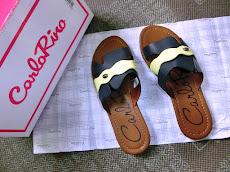 Review beli strappy flat sandal Carlo Rino di Lazada