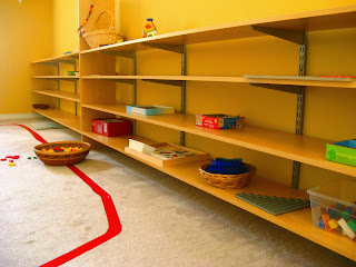 Image of Montessori shelving