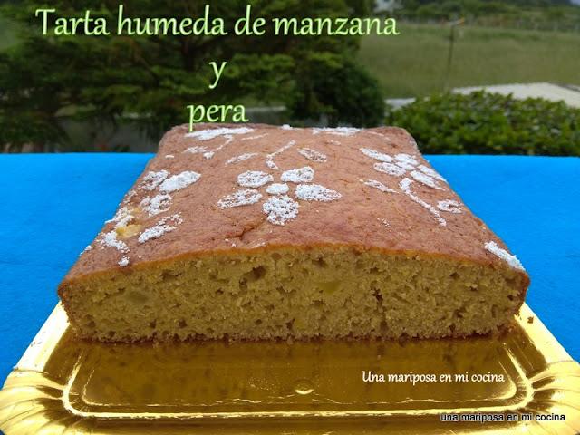 Tarta Humeda De Manzana Y Pera