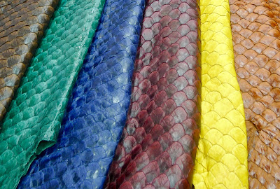 7762b8204e Pirarucu fish leather is HOT! | Sculptural Headwear for Earthlings ...