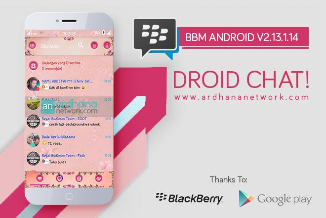 Droid Chat! V2.13.1.14 - BBM MOD Android V2.13.1.14