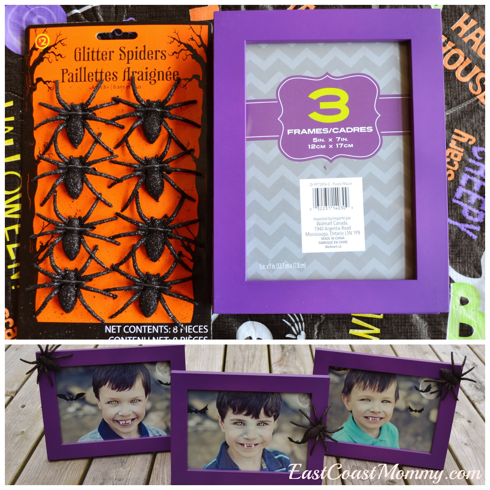 East coast mommy spooky pictures and fun frames for halloween i just love the combination of purple and black when decorating for halloween and i am really happy with how these frames turned out jeuxipadfo Choice Image