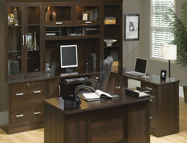 best buying fully assembled home office desk wood with filing cabinets sale