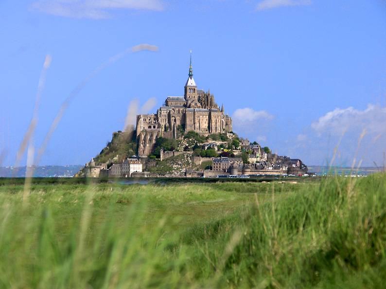 The medieval island of Mont Saint Michel, Normandy, France