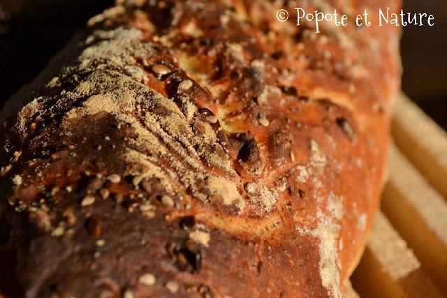 Pain aux céréales sans pétrissage ©Popote et Nature