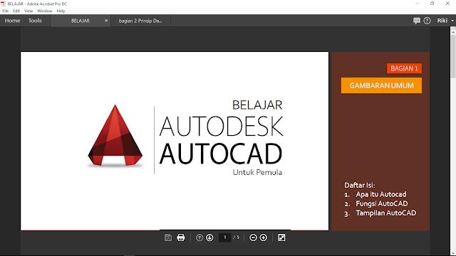 Tangkapan layar Ebook AutoCAD-Pendahuluan