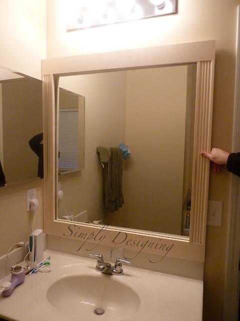 Bathroom Mirror During 03 Bathroom Mirror Re-Vamp {Part 1} 14
