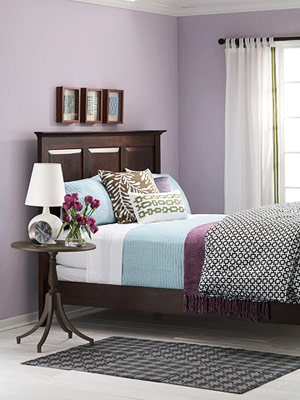 What color bedding goes with light purple walls? | Yahoo ...