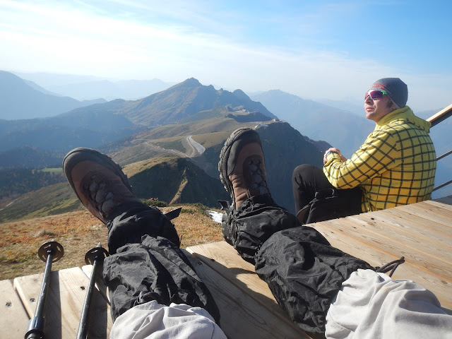 Вид с горы Каменный столб, Хребет Аибга, Роза Хутор, Сочи, Краснодарский край