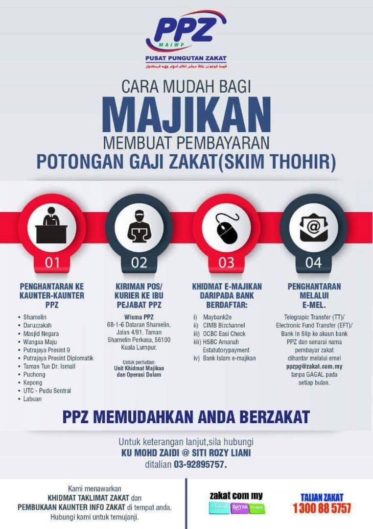 zakat thohir PPZ Malaysia MAIWP Curitan Aqalili