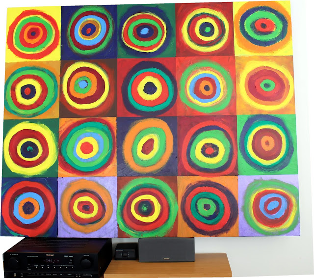 Kandinsky Circles Class Art Project with school paints