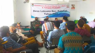 Desa Laksana Sosialisasikan MCU dan Tahapan Pilkades 2021
