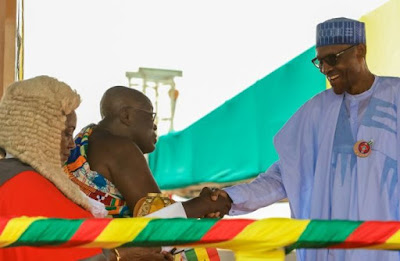 PRESIDENT BUHARI ATTEND THE INAUGURATION CEREMONY OF GHANA'S PRESIDENT- ELET NANA AKUFO-ADDO