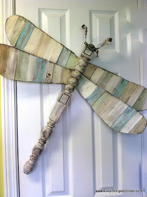 wood shims on table leg dragonfly