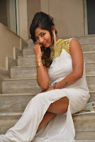 Actress Ishita Latest Stills in White Long Dress at Ippatlo Ramudila Seethala Evaruntaarandi Babu movie Audio Launch  013.jpg