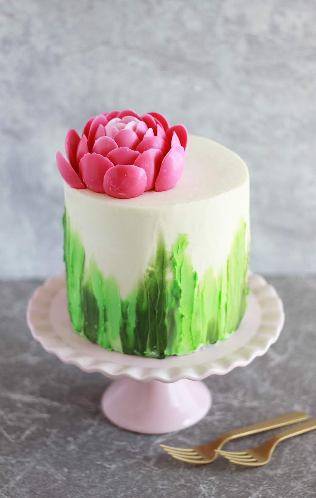 Candy Melt Peony Flower Cake Baking With Blondie