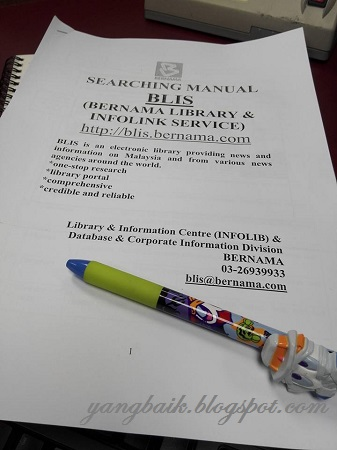 Taklimat Bernama Library & Infolink Service (BLIS)