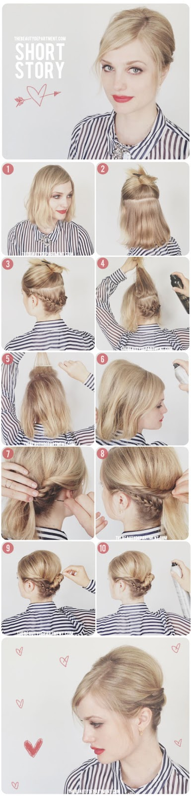 5.FRENCH BRAID UPDO