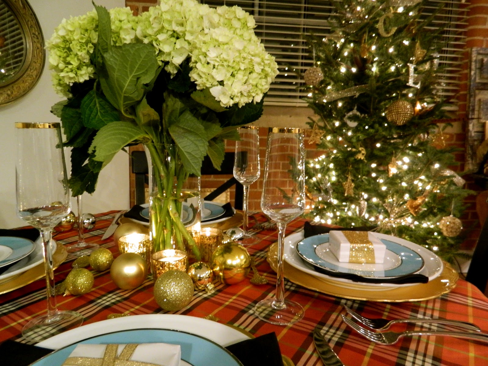 Sadie Stella S S Plaid Christmas Tablescape