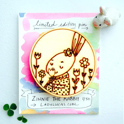 Limited Edition Zinnie the Rabbit Pin
