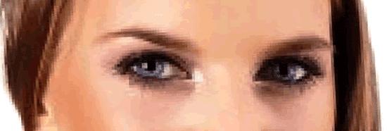 Olhos nos olhos com o mouse no computador