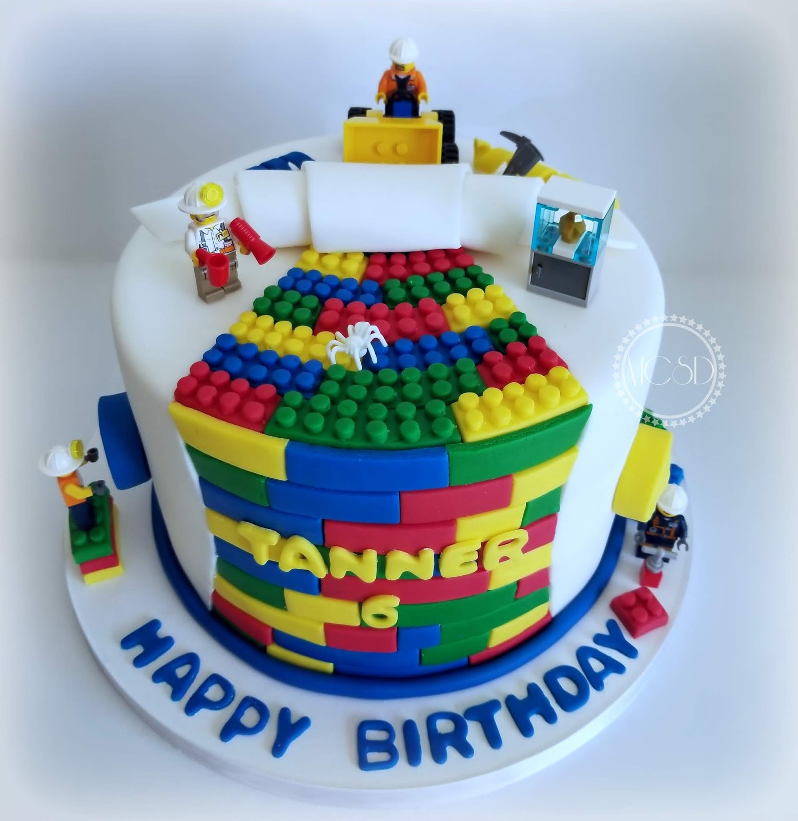 Pleasant Cakesbyzana Lego Birthday Cake Personalised Birthday Cards Veneteletsinfo