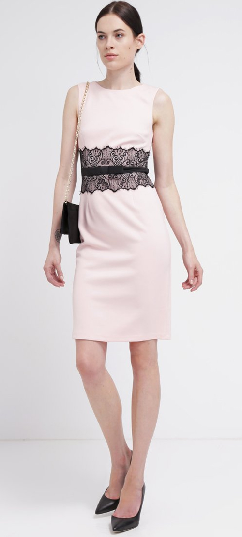 Robe fourreau rose Dorothy Perkins