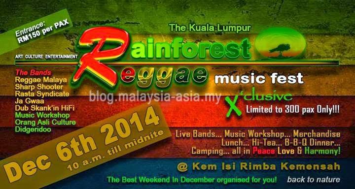 Rainforest Reggae Music Festival KL Malaysia