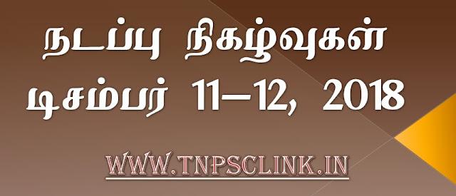 TNPSC Current Affairs December 2018 - Download PDF