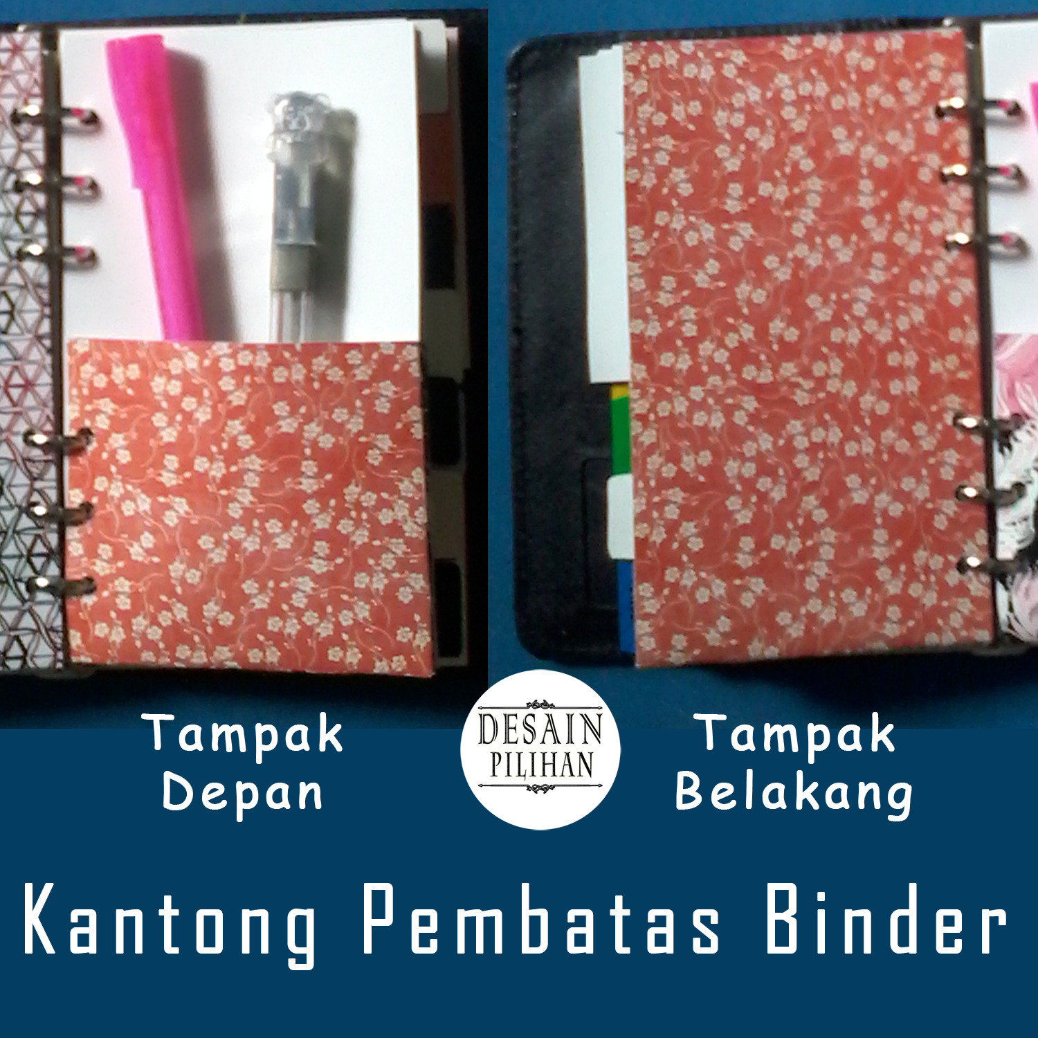POCKET DIVIDER RED FLOWER
