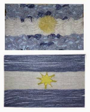 Mi sala amarilla manualidades para el d a de la bandera for Banderas decorativas para jardin