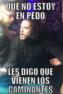 Meme Kit Harington (Jon Snow de Game Of Thrones) en problemas en un bar