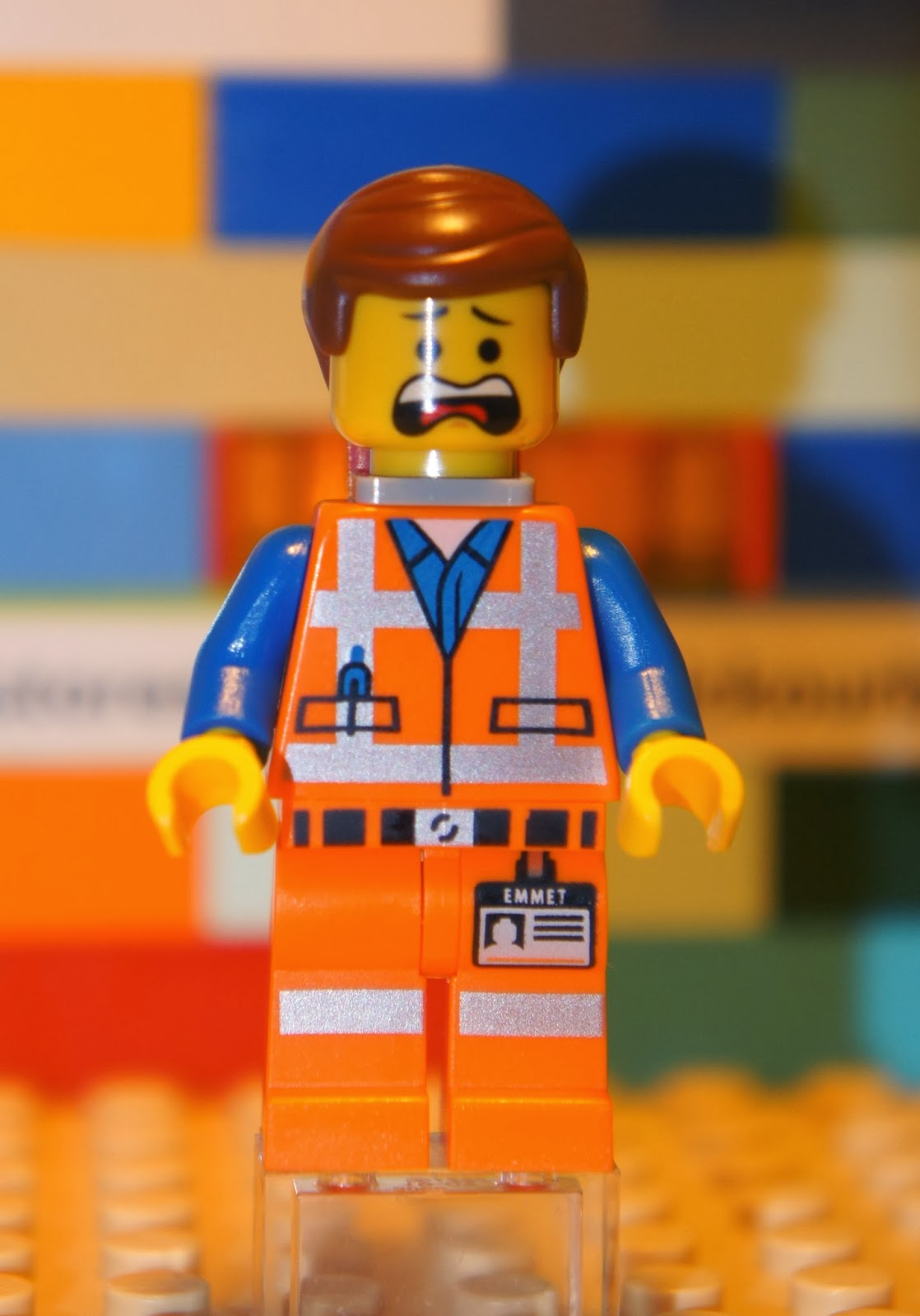 The LEGO Movie TLM018 EMMET BRICKOWSKI Minifigure Scared ...