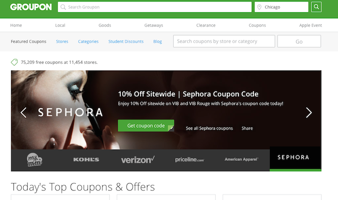 Online Shopping with Groupon