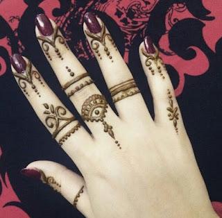 Arabic henna designs for fingers